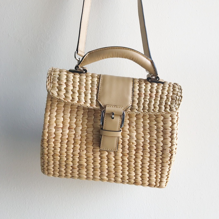 Summer feels with a handmade straw bag.